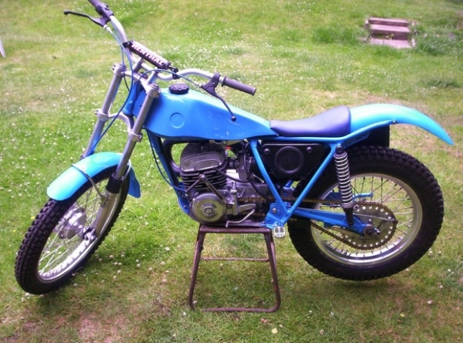 This is Dave's second Bultaco rebuild both bikes having as