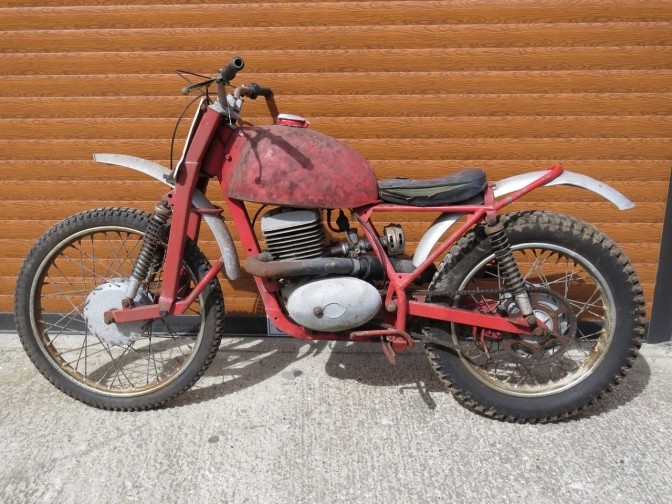 Another Of the little know Villiers engined trials bikes of the